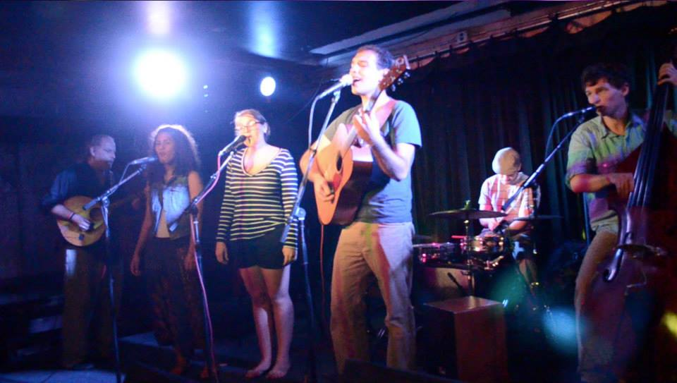 "Performing ""Porches Like These"" with Many Voices at Abbey Underground in Denton, Texas."