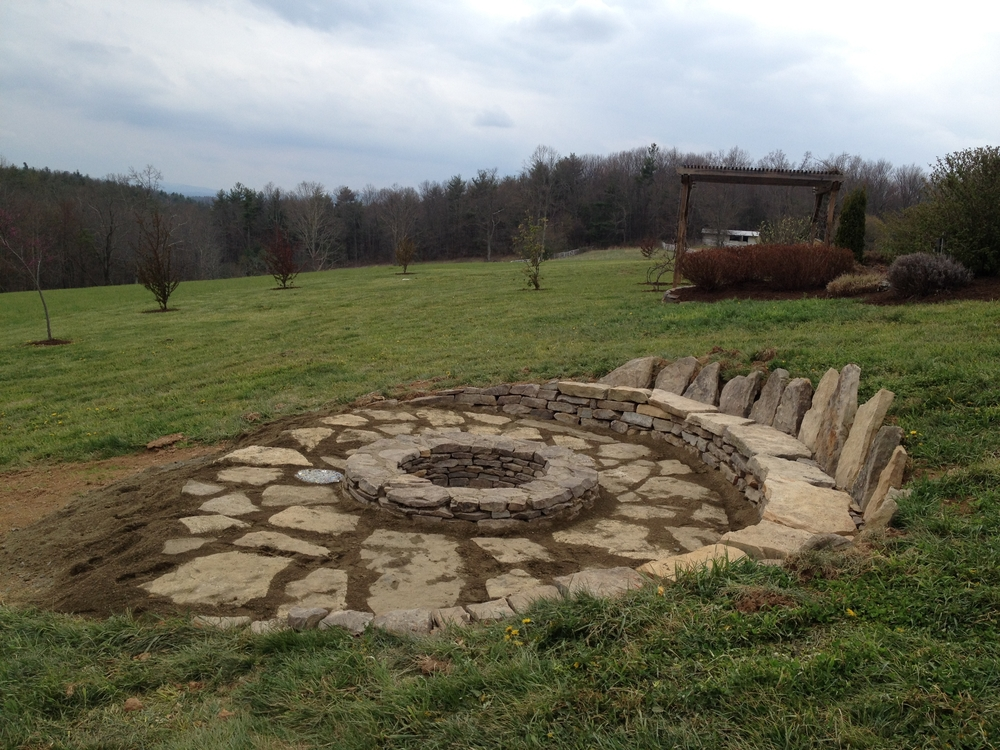 "Stone-French Fire Pit (AKA ""French Stonehenge"")"
