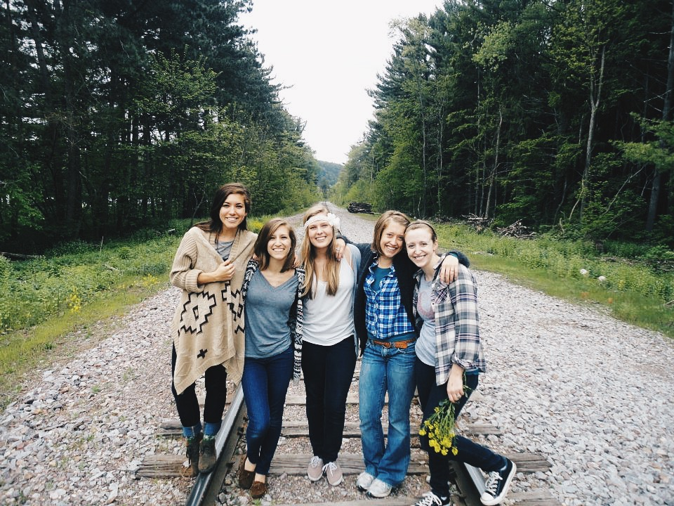 My forever and always best friends. The girls who have been in my wedding and who I still text nearly every day. Here we are on a camping trip to Devil's Lake orchestrated by Meghan.