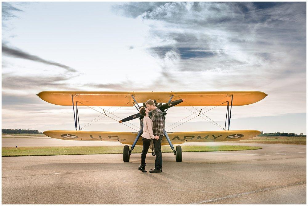 Stephanie kopf photography Charleston south carolina engagement photographer- travel theme engagement- airplane-vintage enagement