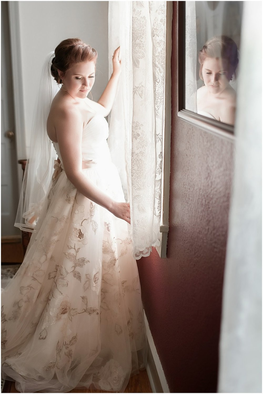 Fine Art Bridal Portrait Mauve Rose Colored Floral Accent Wedding Dress Charleston SC