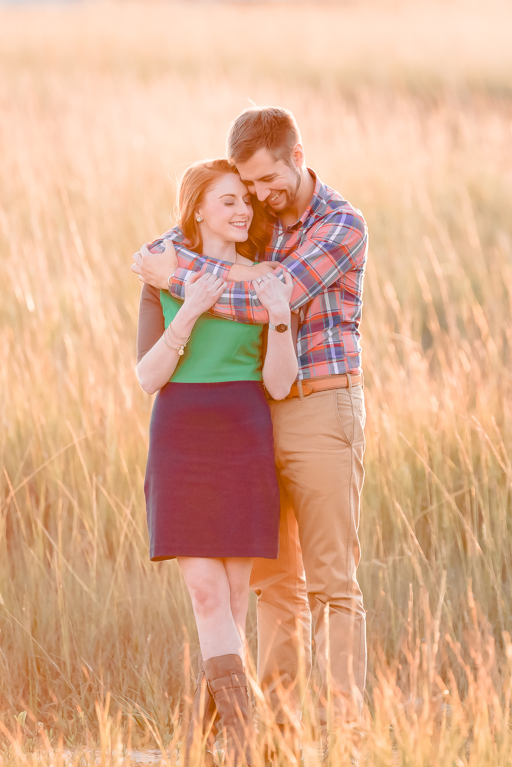 Charleston Sunset over the marsh Engagement Photos_