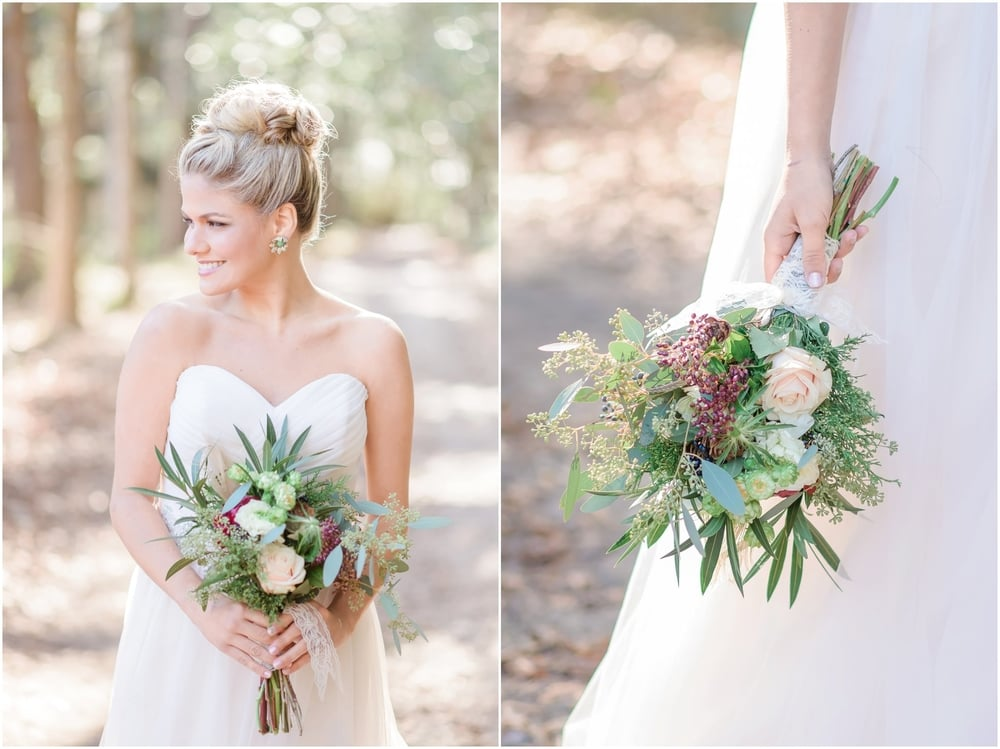 Natural, Romantic, Organic, Green Wedding Inspiration with Gold, Blush, and Marsala pallete_Charleston SC Wedding Photographer | Stephanie Kopf Photography
