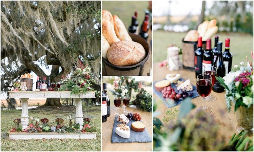 Natural, Romantic, Organic, Green Wedding Inspiration with Gold, Blush, and Marsala pallete_Charleston SC Wedding Photographer