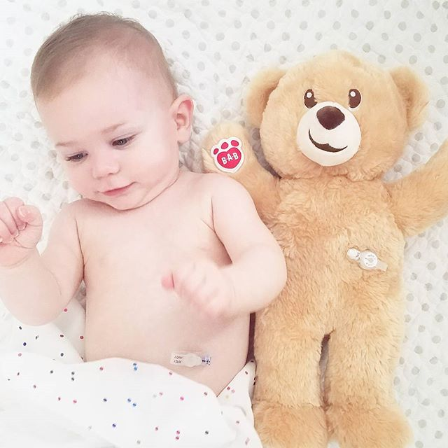 They match. ❤ Thank you to an incredible organization called Tubie Friends for Natalie's adorable new buddy!  #tubiefriends