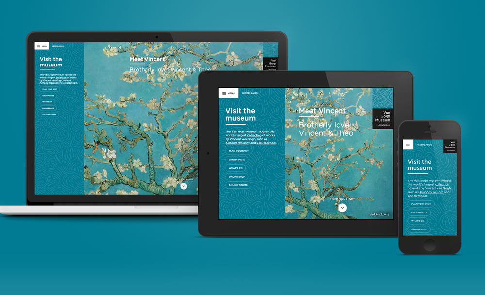 Van Gogh Museum website - Portfolio of Sanne Wijbenga