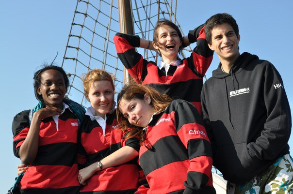 AIESEC International on a boat trip. Maria is second from left.