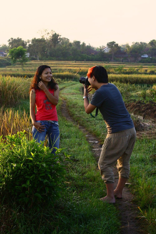 Bernice in Indonesia with Rista