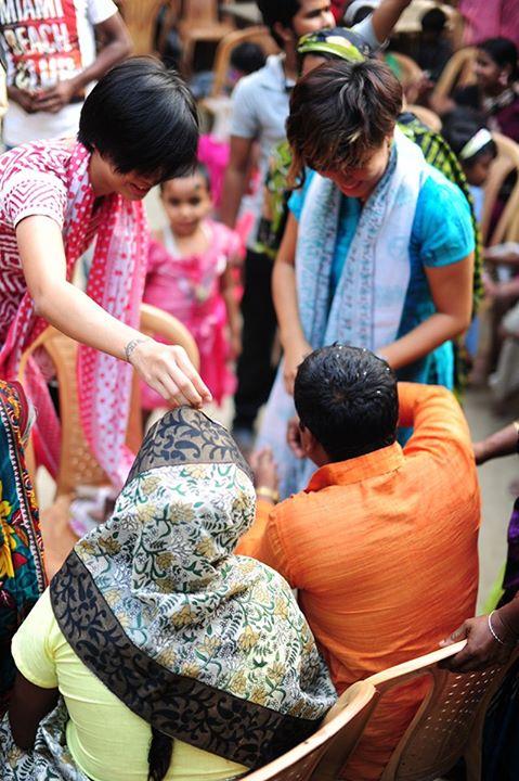 Yiqin & Bernice at Jahangir's wedding. Jahangir was one of three Bangladeshi men featured inGoing Home.