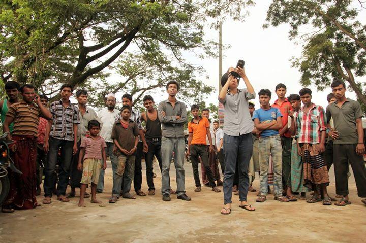 Yiqin filming in Bangladesh