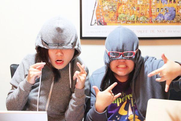 Joyce and Weiyan keeping sane during university days