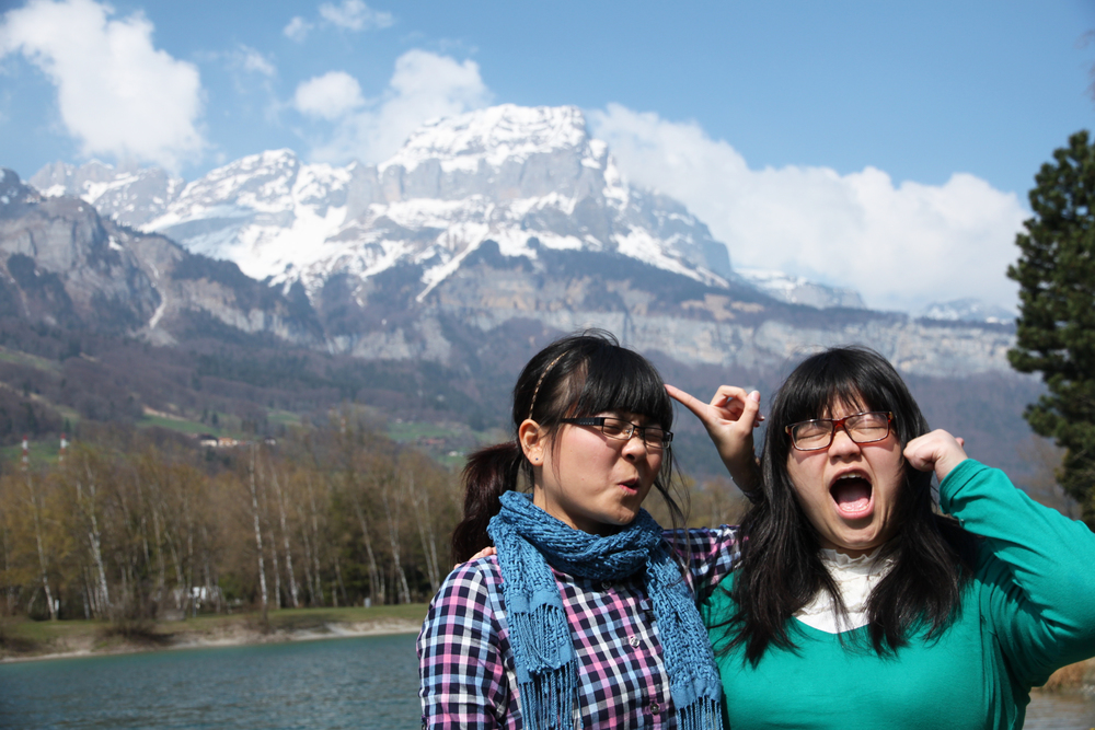 Joyce and Weiyan roadtripping through France as university students