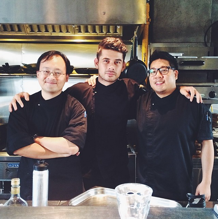 (L-R): Gerard, Kyle, and Ming in the Lolla kitchen
