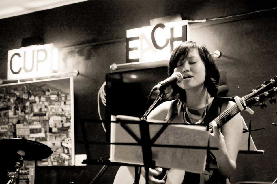 Ethel:This was taken at a music gig I performed at, at 7 Kickstart Cafe in May 2013. I was performing some of my original songs.