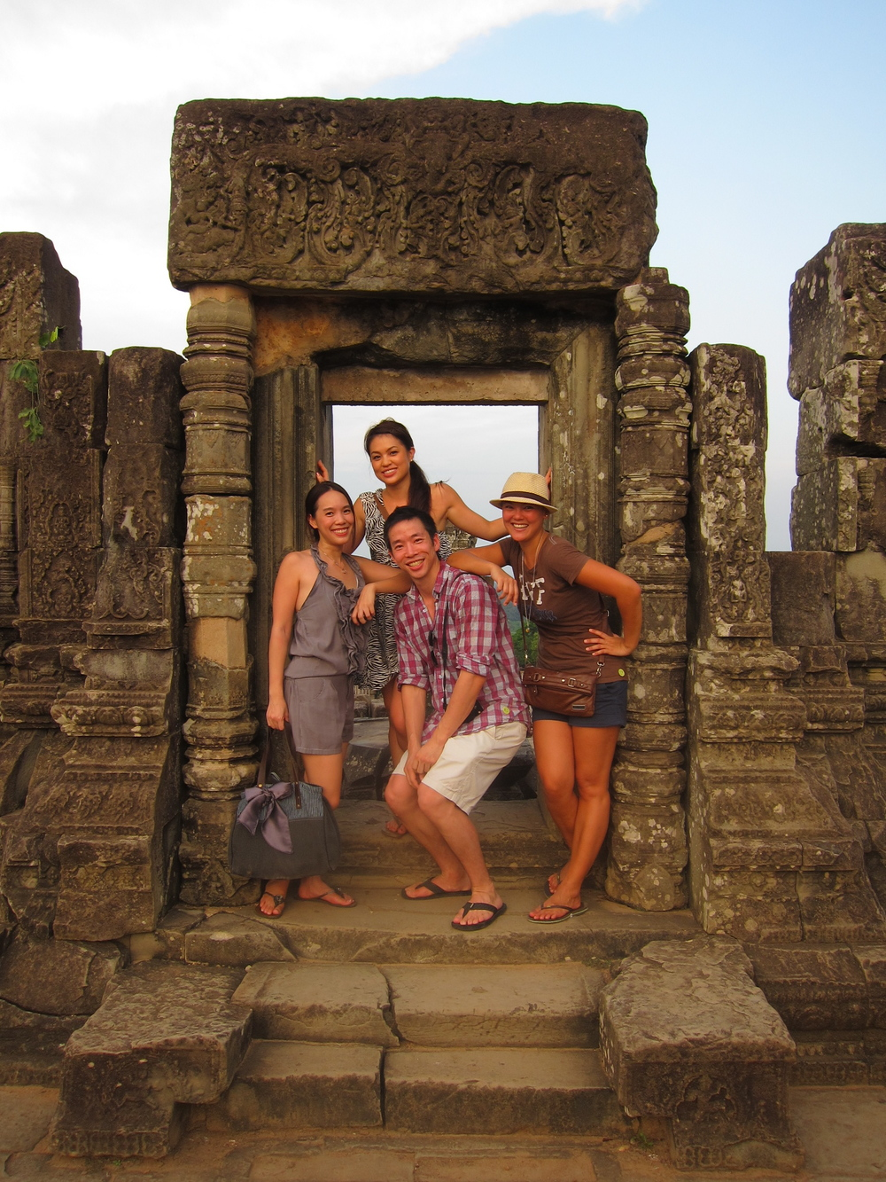 Natasha: One of the things I like about Singapore is being able to explore nearby countries. Here we are at Siem Reap.