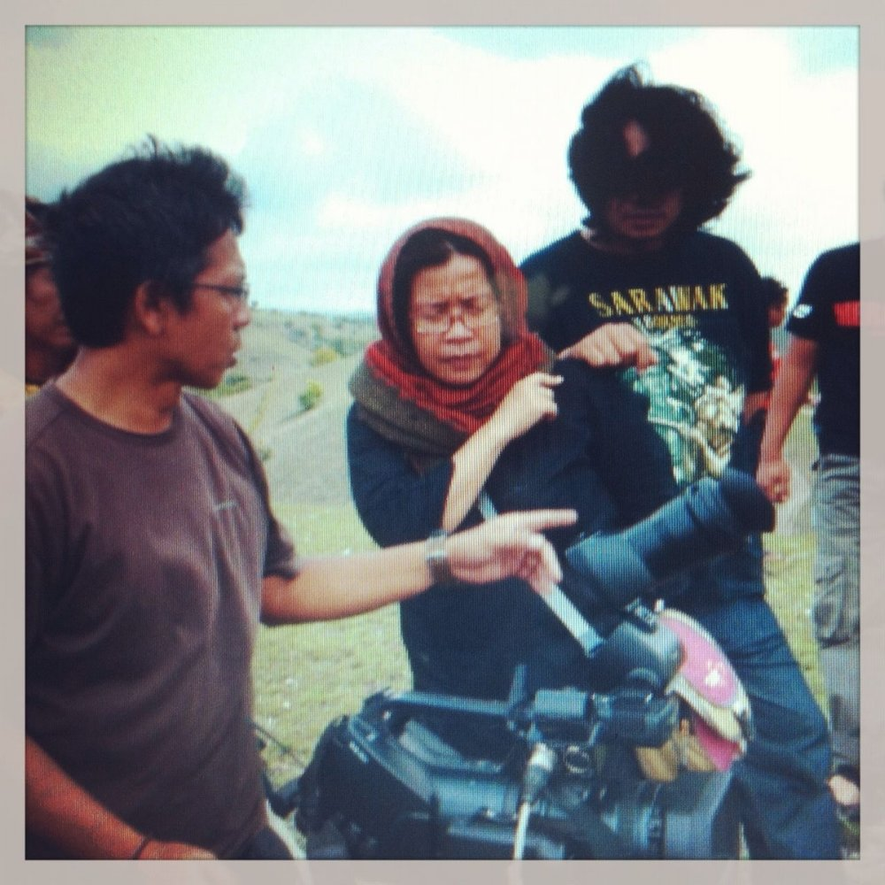 Filming with United Nations Development Programme (UNDP) in Aceh, 2015.
