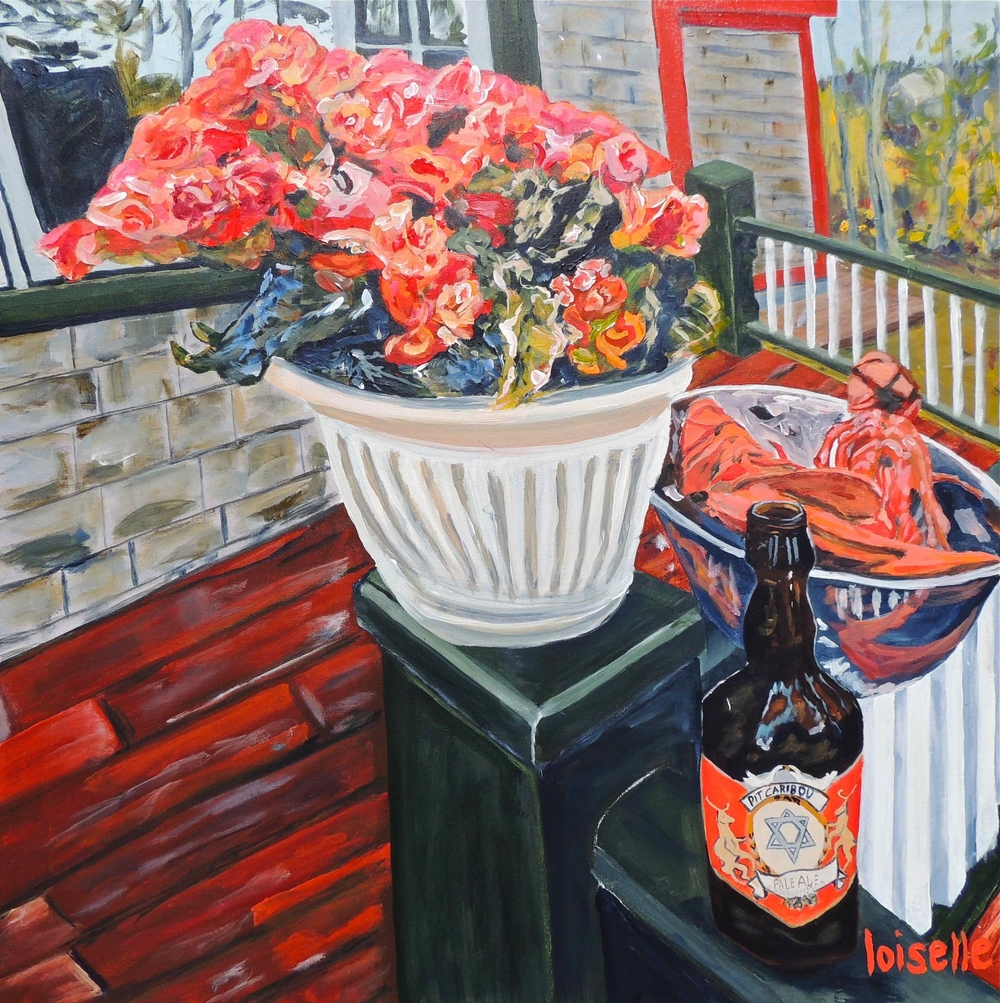 """NATURE MORTE AUX BÉGONIAS…"""