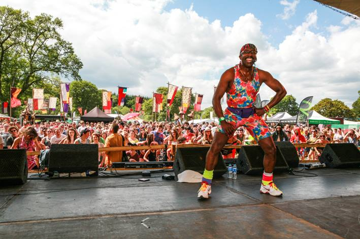 Mr Motivator's step aerobics in the sun last year