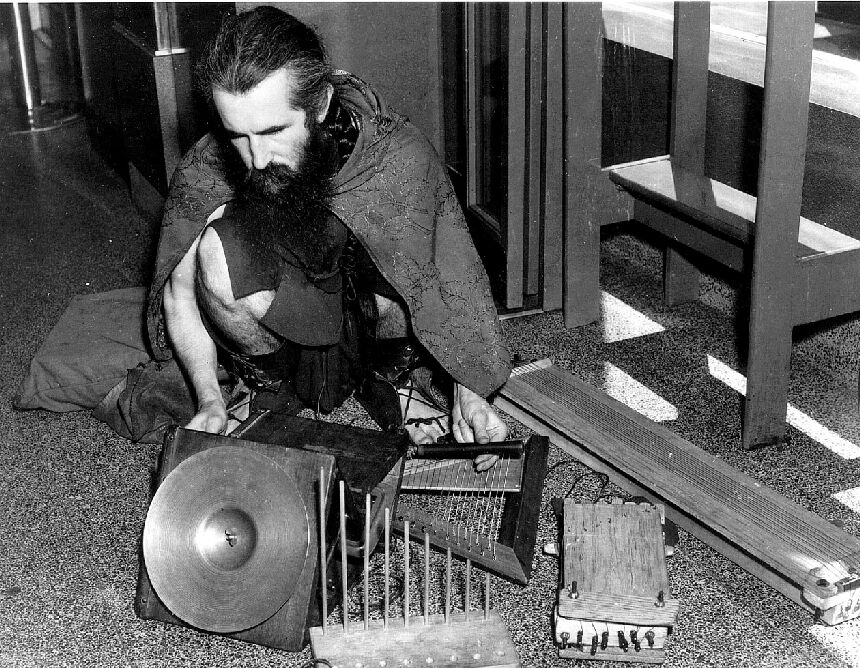 Moondog made his own instruments despite being blind.