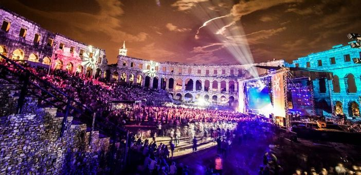 The Roman Ampitheatre in Pula where the opening concert takes place.