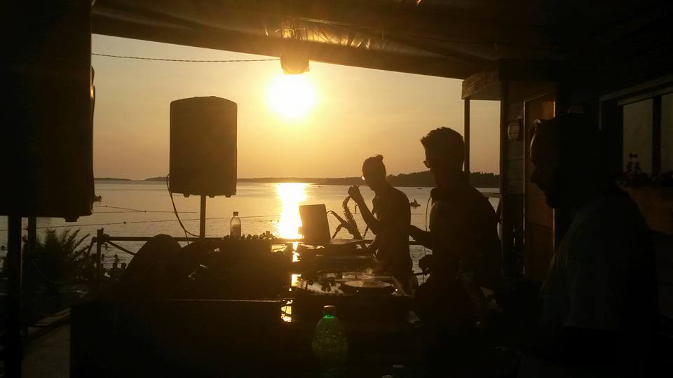 Duncan and Anders from Samson Sounds, and the spectacular Croatian sunset.