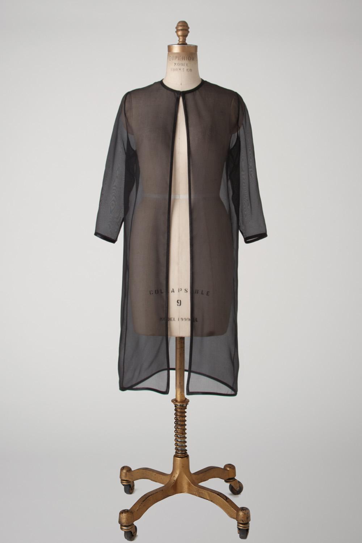 silk organza evening duster