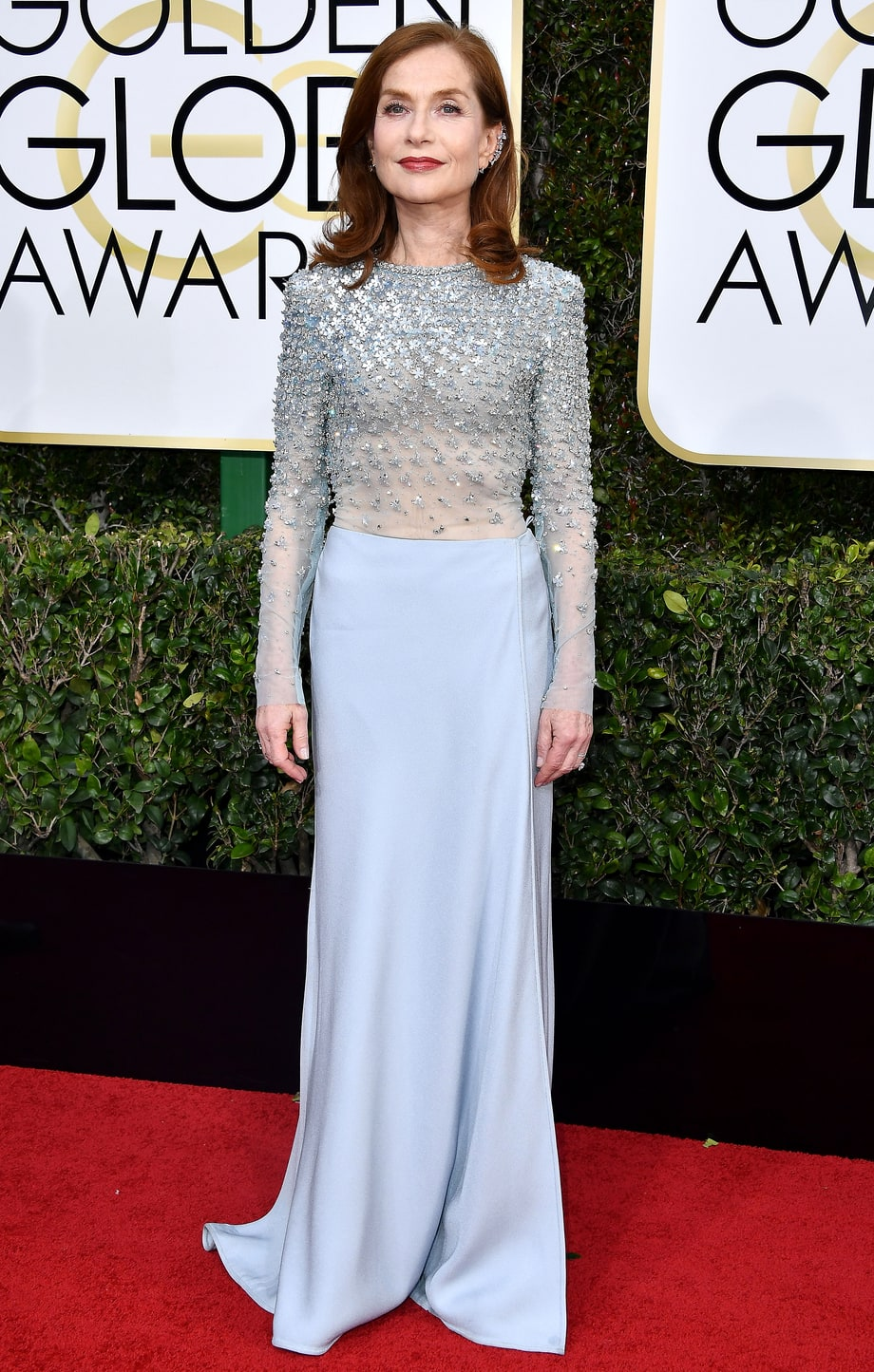 Isabelle Huppert in Caitriona Balfe (Photo Credit: Steve Gravitz / WireImage)