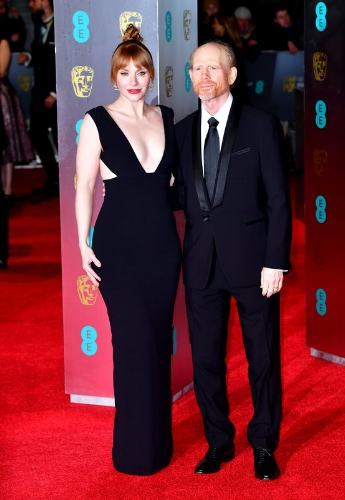 Bryce Dallas Howard and Ron Howard (Photo Credit: Dominic Lipinski / PA Wire)