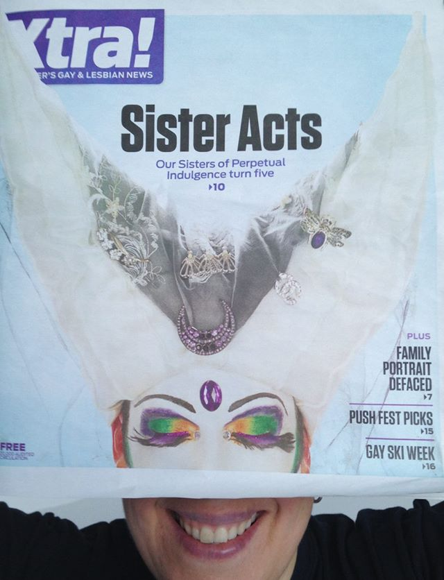 Xtra did a creative crop of my Sisters image for the cover so I couldn't resist having some fun with a silly selfie.