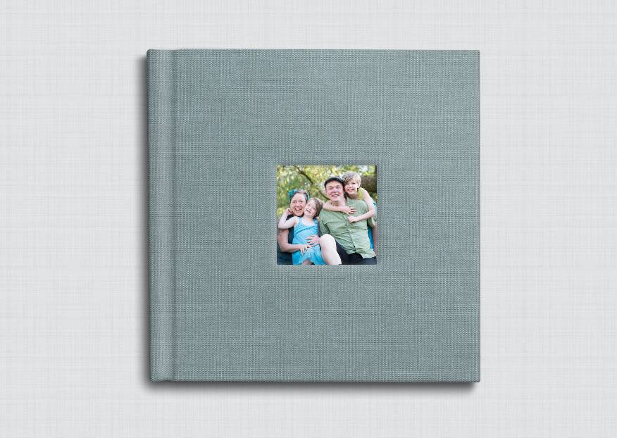 The Yules chose a sweet storybook album WITH their favorite portraits from their session.