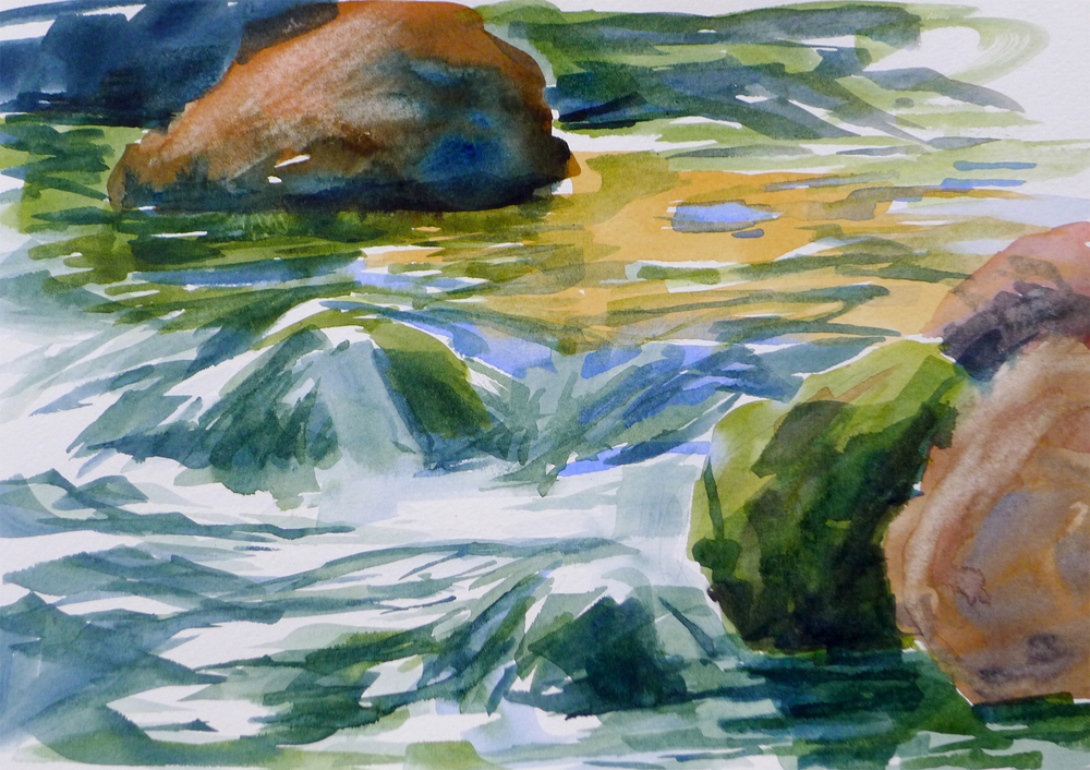 "Ashland Creek - 9x12"" Watercolor on paper"