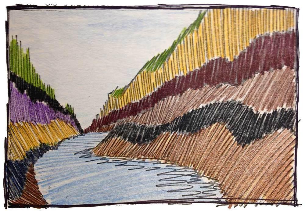 River sketch 1977