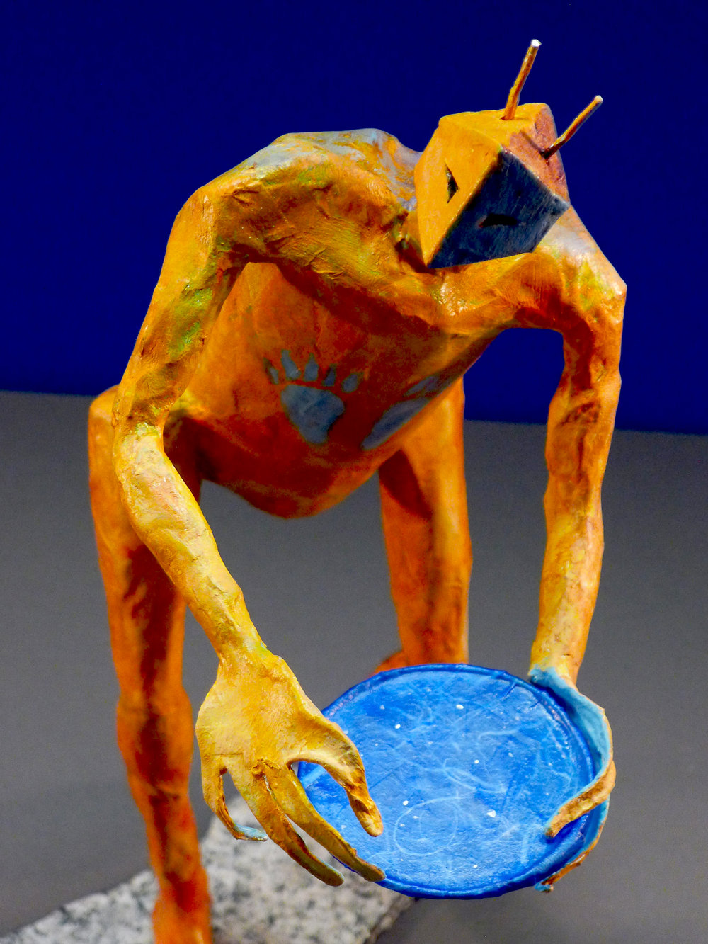 """Echo Maker"" Mixed media sculpture"