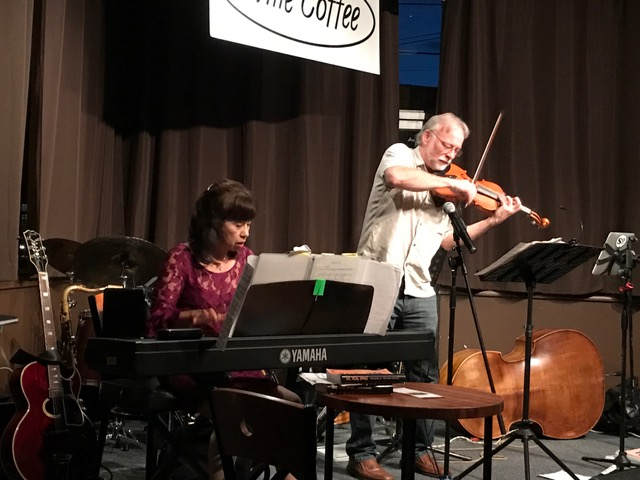 Rick LaRue and Noriko brought Bartok and more to the benefit.