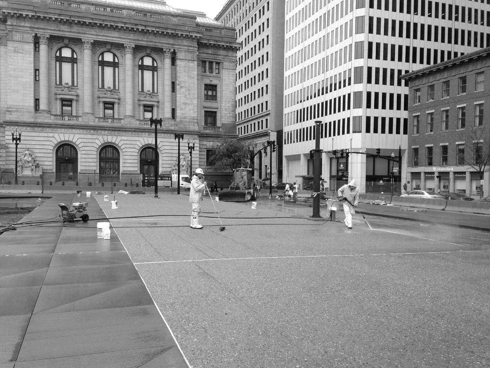 b construction - Kennedy Plaza - construction powerwash.jpg