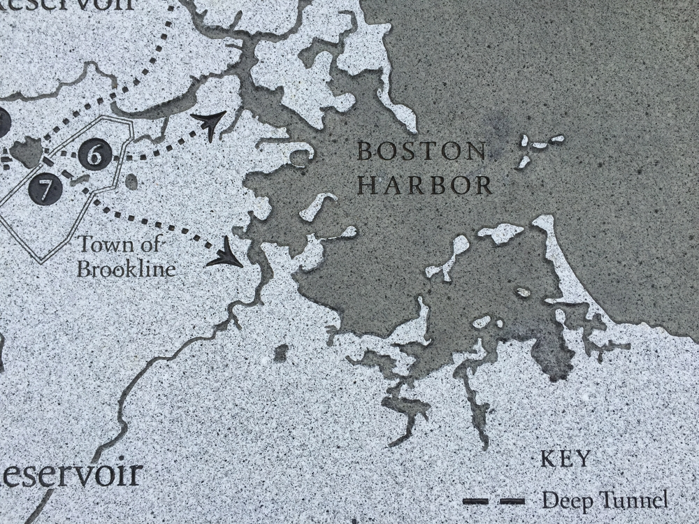 Detail of the Boston water supply map pt.1