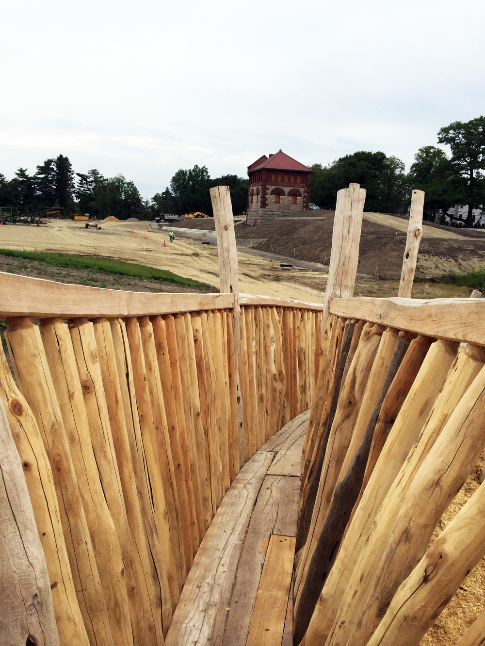A view towards the Gate House from Mitch Ryerson's play structure.