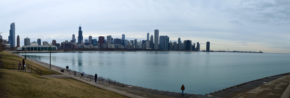 Chicago Skyline from Adler Planetarium