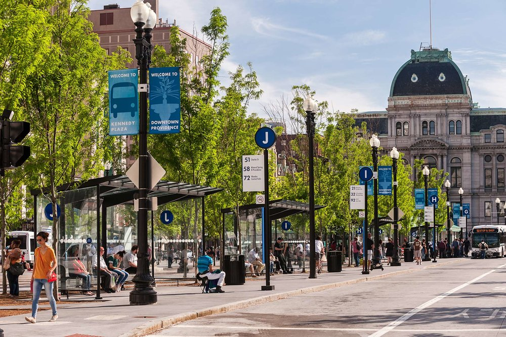 Kennedy Plaza, Providence, RI BSLA Merit Award for Design, 2017