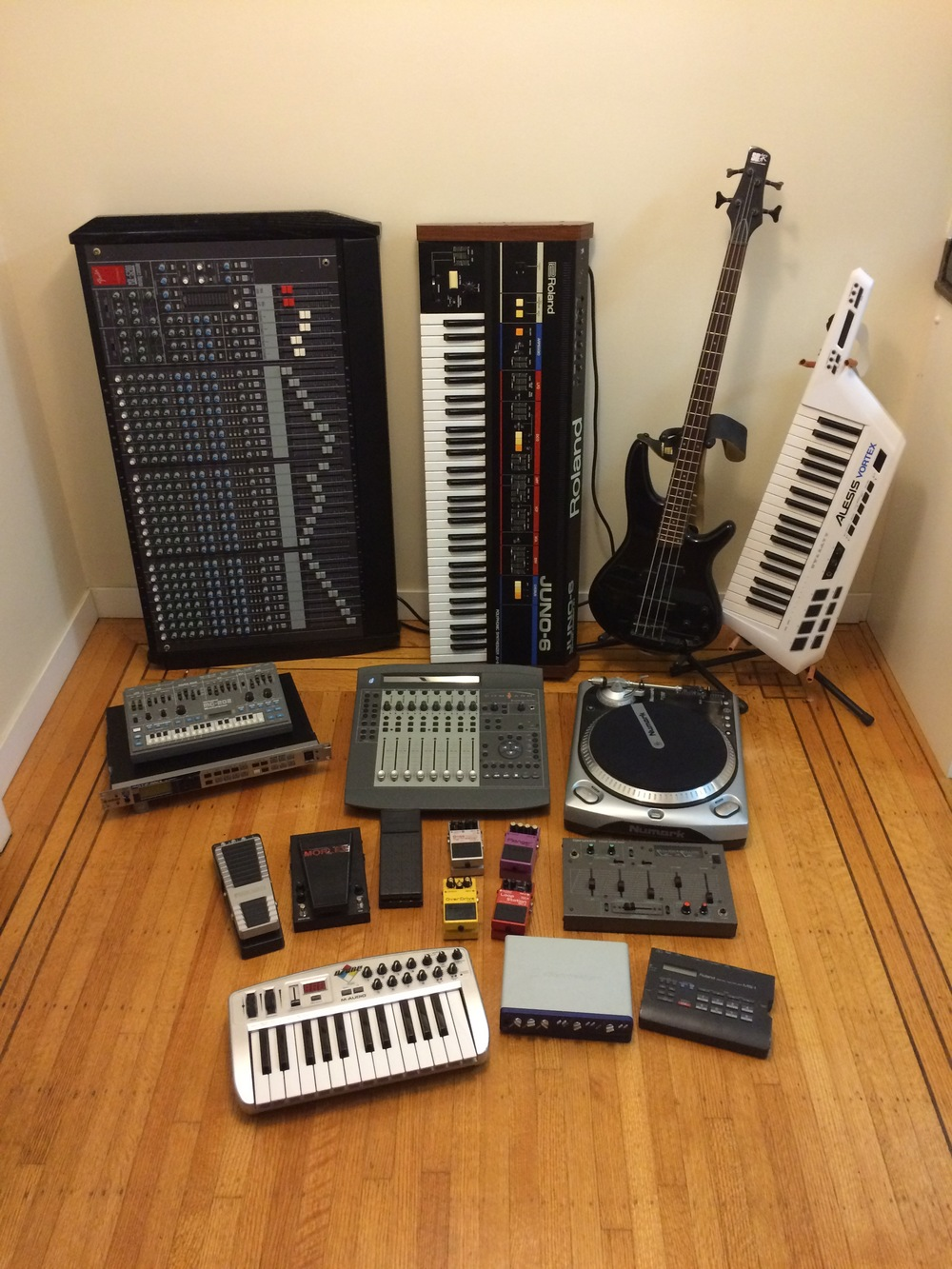 Pile of gear.