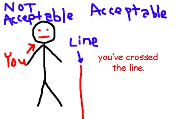 "Crossed The Line Quotes: Red Lines, Bottom Lines, Crossing Lines And ""value"