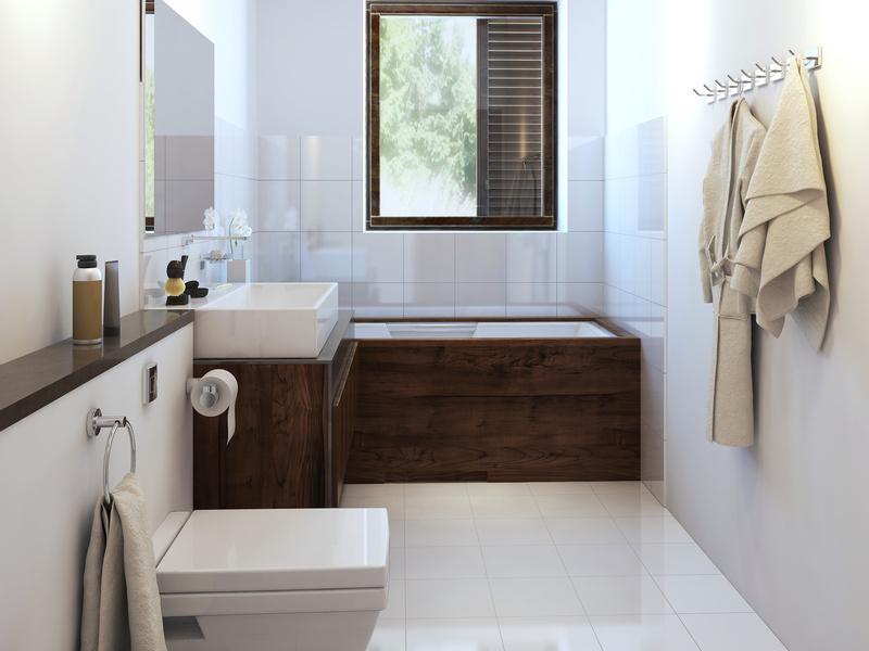 Modern, Minimalist Bath