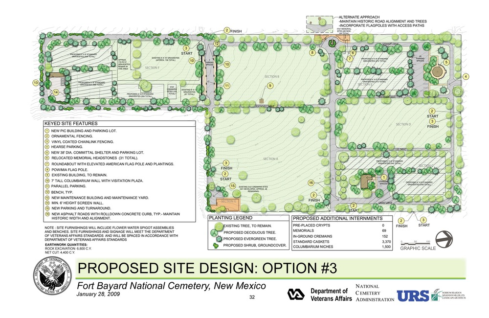 Fort Bayard National Cemetery - Proposed Site Design