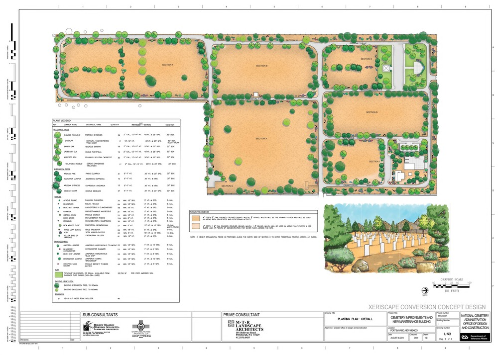 Fort Bayard National Cemetery - Xeriscape Conversion Plan