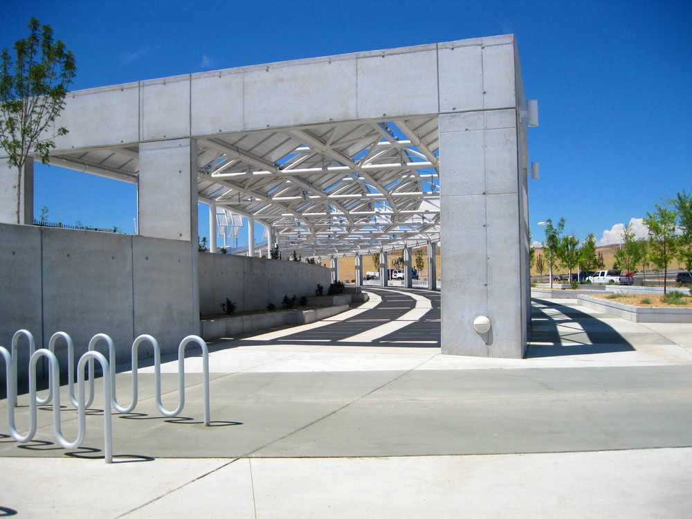 Shade structure at the stadium