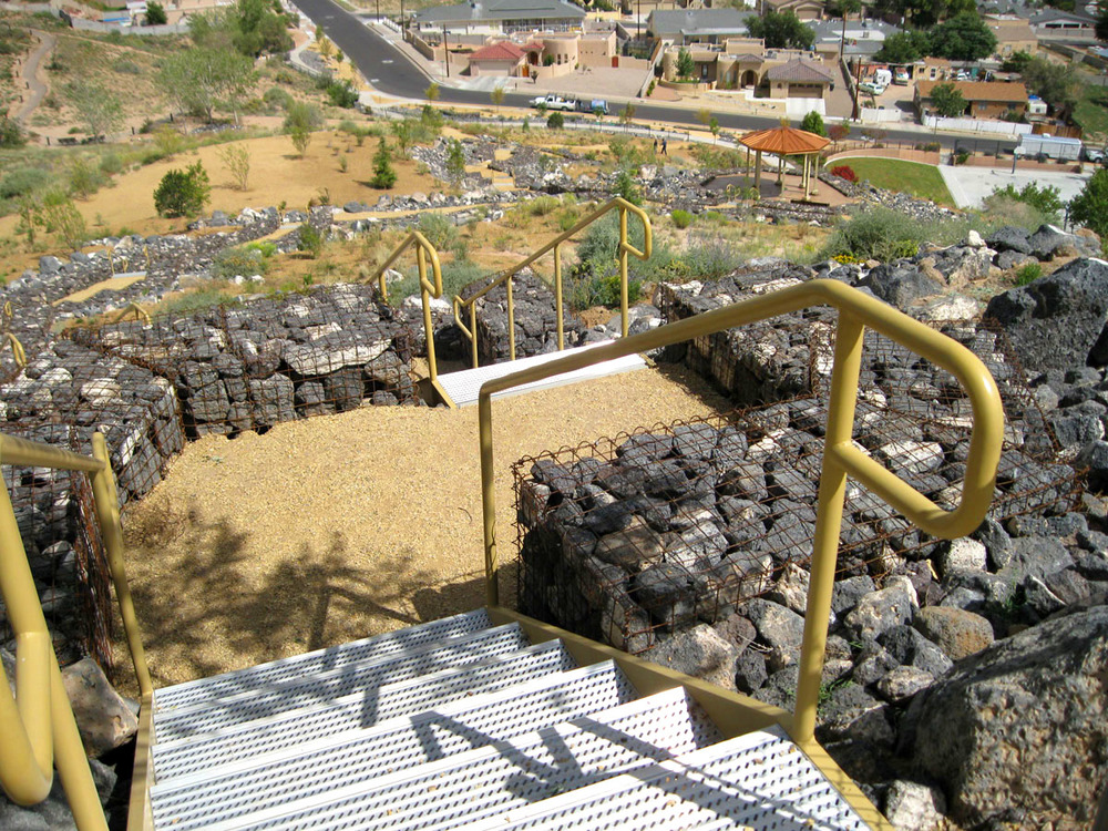 Numerous paths and sets of stairs along with great elevation change make this a popular park for exercise and training