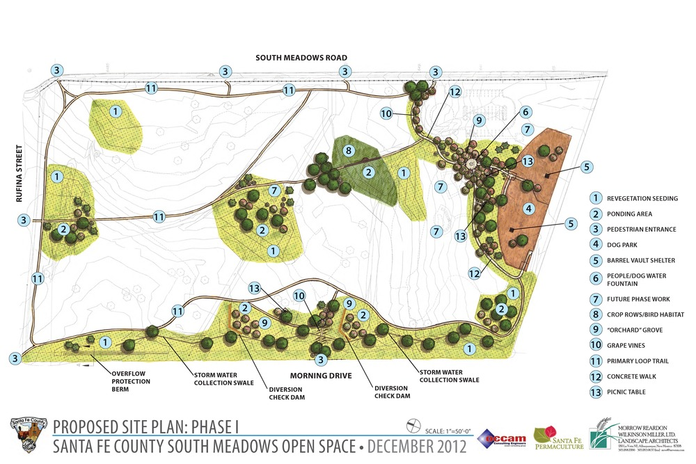 Phase I diagram of South Meadows Open Space