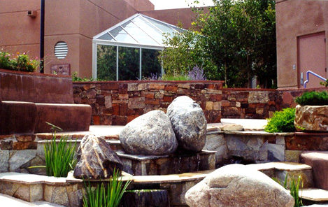 Healing Garden water feature
