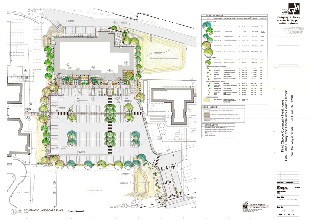 Site design for Los Lunas First Choice Community Healthcare building