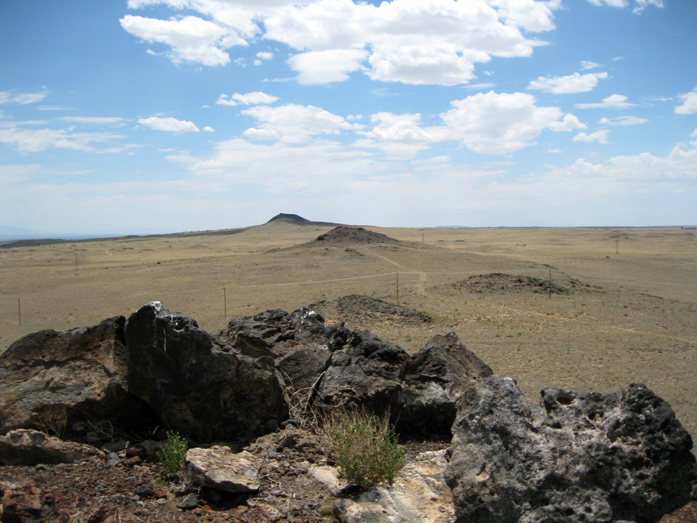 View of the volcanoes from Petroglyph National Monument